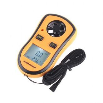 Měřící přístroje - Anemometr měřič rychlosti větru + teploměr