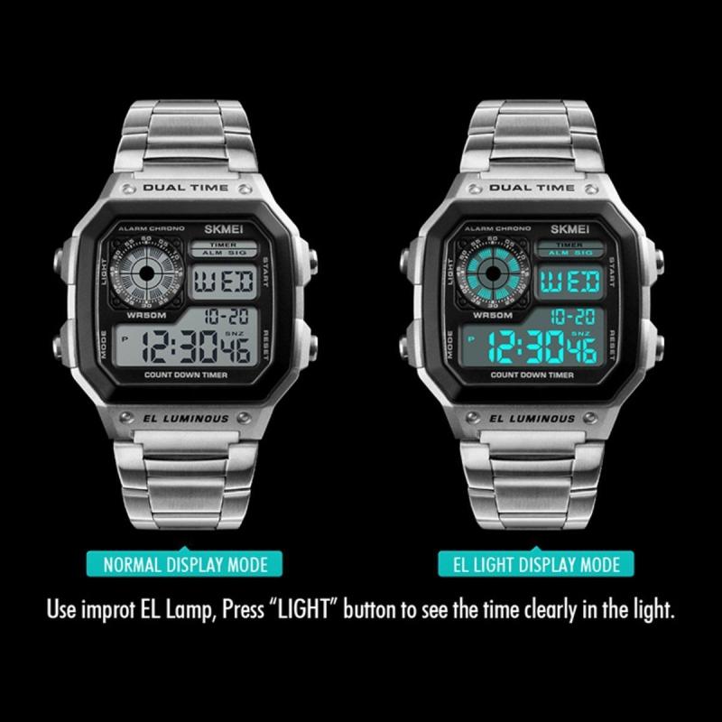 Digitální hodinky Skmei 1335 Silver - iPal.cz 832e4596917