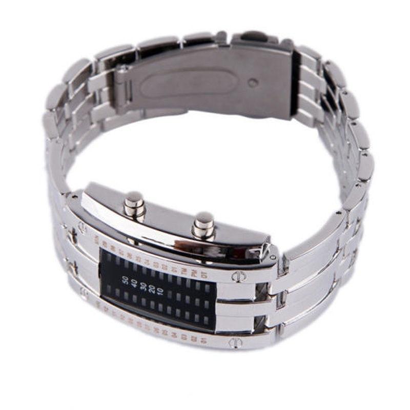 a9434415d55 Pánské binární led hodinky z nerezu - iPal.cz