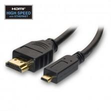 HDMI redukce, kabel hdmi na micro hdmi + dárek Silikonové náramkové hodinky - digitální modré zdarma