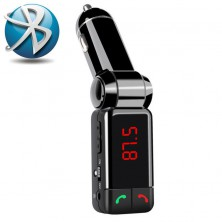 Bluetooth transmitter do auta s handsfree + dárek Silikonové náramkové hodinky - digitální černé zdarma