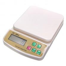 Balíková digitální váha - 10kg s přesností 1g + dárek Silikonové náramkové hodinky - digitální modré zdarma