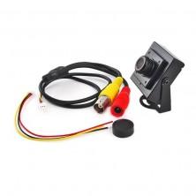 CCD CCTV mini špionážní kamera 700TVL + dárek Silikonové náramkové hodinky - digitální černé zdarma