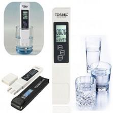 digitální EC a TDS metr s měřením teploty + dárek Silikonové náramkové hodinky - digitální černé zdarma