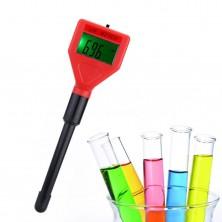 Kapesní digitální pH tester, pH metr + dárek Silikonové náramkové hodinky - digitální modré zdarma