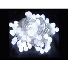 Vánoční osvětlení na stromeček LED koule bílé + dárek Silikonové náramkové hodinky - digitální modré zdarma