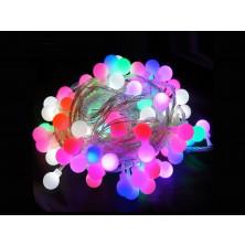 Vánoční osvětlení na stromeček LED koule barevné