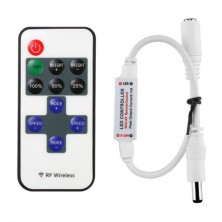 Dálkové ovládání, ovladač jednobarevných LED pásků + dárek Silikonové náramkové hodinky - digitální modré zdarma