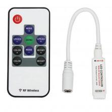 Dálkové ovládání, ovladač barevných RGB LED pásků + dárek Silikonové náramkové hodinky - digitální modré zdarma
