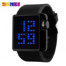 Retro LED hodinky Skmei 1145 + dárek Silikonové náramkové hodinky - digitální modré zdarma