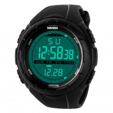 SKMEI 1025 pánské LED digitální sportovní náramkové hodinky + dárek Silikonové náramkové hodinky - digitální modré zdarma