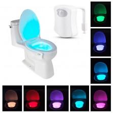 Pohybem aktivované LED osvětlení na WC mísu