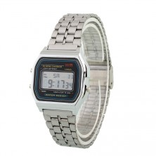 Retro digitálky, legendární digitální hodinky + dárek Silikonové náramkové hodinky - digitální fialové zdarma