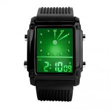 digitální hodinky s barevným podsvícením