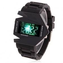 Futuristické digitální hodinky s více barevným zobrazením