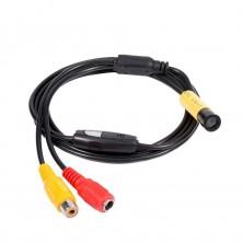 Vodotěsný AV endoskop kamera s osvětlením 12V 2M