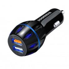USB Autonabíječka s rychlonabíjením Qualcomm Quick Charge 3.0