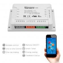 Dálkově ovládaný čtyřkanálový WiFi modul Sonoff 4CH R2