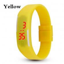 Digitální hodinky na běhání - žluté