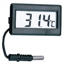 Malý digitální teploměr do panelu + dárek Silikonové náramkové hodinky - digitální modré zdarma
