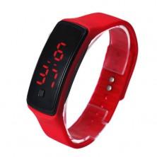Sportovní digitální hodinky - červené