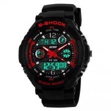 Sportovní digitální hodinky Skmei červené + dárek Silikonové náramkové hodinky - digitální fialové zdarma