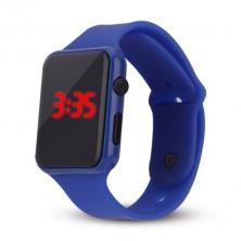 Silikonové digitální hodinky - modré