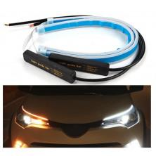 2x Denní svícení 30cm LED DRL s funkcí blinkru postupné spouštění