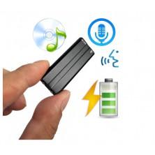 Diktafon s detekcí zvuku a možností přehrávání hudby
