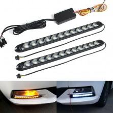 2x Denní svícení LED DRL s funkcí blinkru postupné spouštění 32 cm