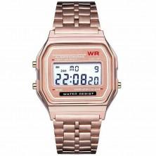 Retro digitálky, legendární digitální hodinky růžové