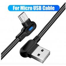 Datový LED kabel Micro USB, 1M nylon
