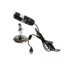 Digitální mikroskop 500x zvětšení do USB + dárek Silikonové náramkové hodinky - digitální modré zdarma