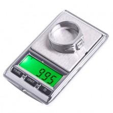 Miniaturní digitální váha do 500g přesnost 0,01g + dárek Silikonové náramkové hodinky - digitální fialové zdarma