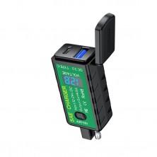 SAE univerzální nabíječka USB + TYPE C s voltmetrem