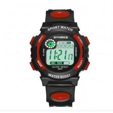 Dětské digitální hodinky značky Synoke, červené