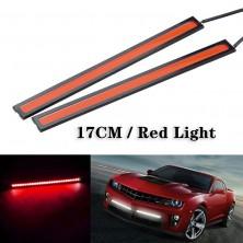 2x COB LED pásek do auta 12V 6W červená
