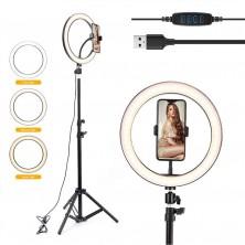 LED kruhové světlo Selfie TikTok s držákem průměr 26cm
