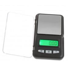 Setinková digitální váha 200g, přesnost 0,01g + dárek Silikonové náramkové hodinky - digitální fialové zdarma