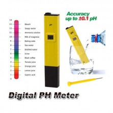 Kapesní PH metr pro sledování hodnoty pH + dárek Silikonové náramkové hodinky - digitální černé zdarma