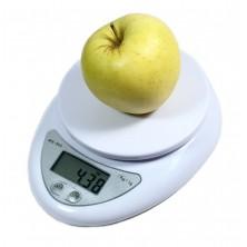 Digitální kuchyňská váha s přesností 1g + dárek Silikonové náramkové hodinky - digitální modré zdarma