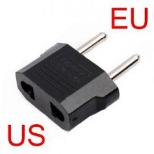Redukce do zásuvky z US, AU na EU zástrčku. + dárek Silikonové náramkové hodinky - digitální černé zdarma