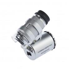 Kapesní mikroskop - 60x zvětšení + dárek Silikonové náramkové hodinky - digitální černé zdarma