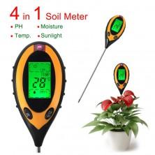 Multi metr měřící pH, teplotu a vlhkost půdy + dárek Silikonové náramkové hodinky - digitální černé zdarma
