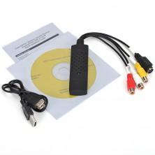 USB video grabber pro záznam videa z VHS do PC + dárek Silikonové náramkové hodinky - digitální modré zdarma