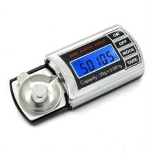 Profesionální digitální váha s přesností 0,001g + dárek Silikonové náramkové hodinky - digitální černé zdarma