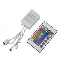 IR dálkový ovladač pro RGB LED pásky + dárek Silikonové náramkové hodinky - digitální černé zdarma
