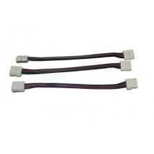 Propojovací konektor pro LED pásek RGB SMD 5050, 3528 + dárek Silikonové náramkové hodinky - digitální modré zdarma