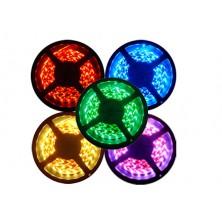 Vodotěsný RGB LED pásek, 5m, 300 LED, tříbarevný, SMD3528 + dárek Silikonové náramkové hodinky - digitální modré zdarma