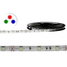 Vodotěsný RGB LED pásek, 5m, 300 LED, tříbarevný, SMD5050 + dárek Silikonové náramkové hodinky - digitální modré zdarma